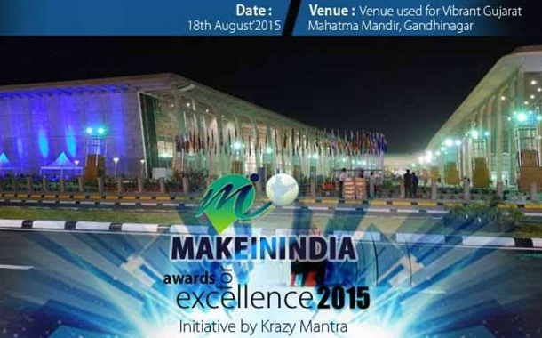 "Tally Solutions Bags ""Make In India Award for Excellence 2015"""