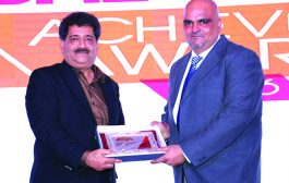 CHAMPAK GURJAR, PRESIDENT, FAAITA IS GIVING AWAY THE AWARD OF NETWORK SECURITY VENDOR OF THE YEAR TO FORTINET TECHNOLOGIES INDIA PVT, LTD