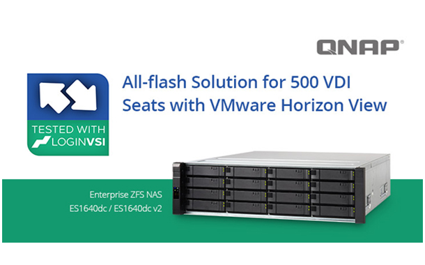QNAP to address All-flash Solution for 500 VDI Seats with