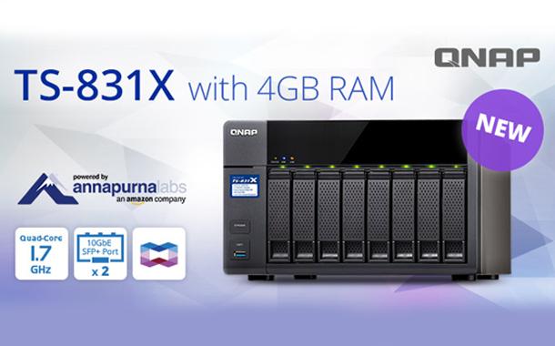 QNAP presents Quad-core TS-831X NAS with 1 7 GHz CPU