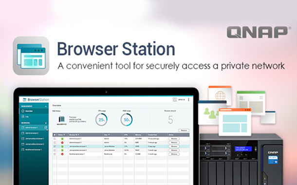 QNAP Introduces Browser Station, a Convenient Tool for Securely Accessing a Private Network