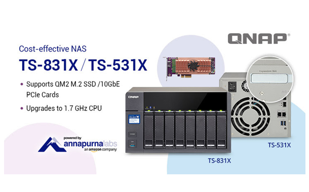 QNAP's TS-831X and TS-531X NAS now Support QM2 Expansion