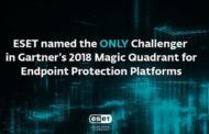 ESET Named as the only Challenger in 2018 Gartner Magic Quadrant