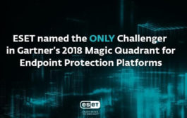 ESET Named as the only Challenger in 2018 Gartner Magic Quadrant