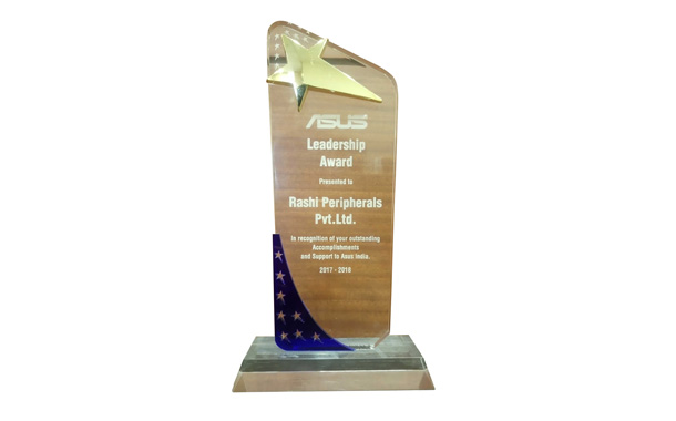 Rashi Wins First Ever Distribution Leadership Award from ASUS