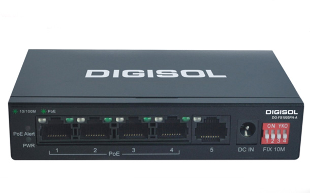 DIGISOL 5 Port Fast Ethernet Unmanaged Switch