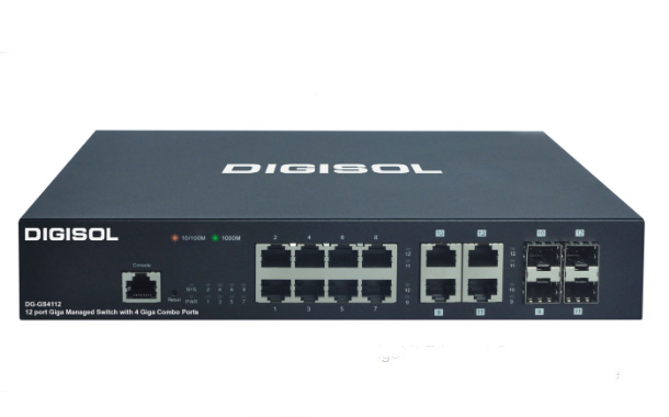 DIGISOL Releases 8 Port Gigabit Ethernet Smart Managed Switch with 4 Combo Ports