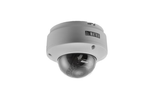 Matrix's 2MP IR Dome Camera with 3.6mm Lens