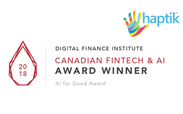 Haptik receives recognition at theAnnual Canadian Fintech & AI Awards 2018