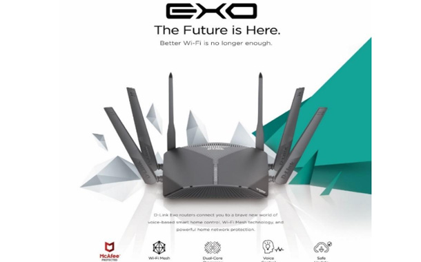 D-Link's New Exo Router Series with McAfee Protection at CES