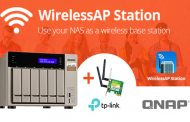 QNAP NAS Wireless Base Station with the new WirelessAP Station